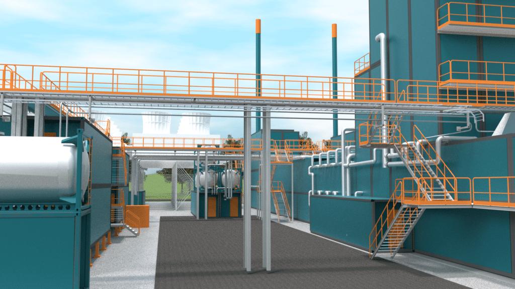 WOIMAline service platforms, catwalks and safety rails in power plant - WOIMA Corporation