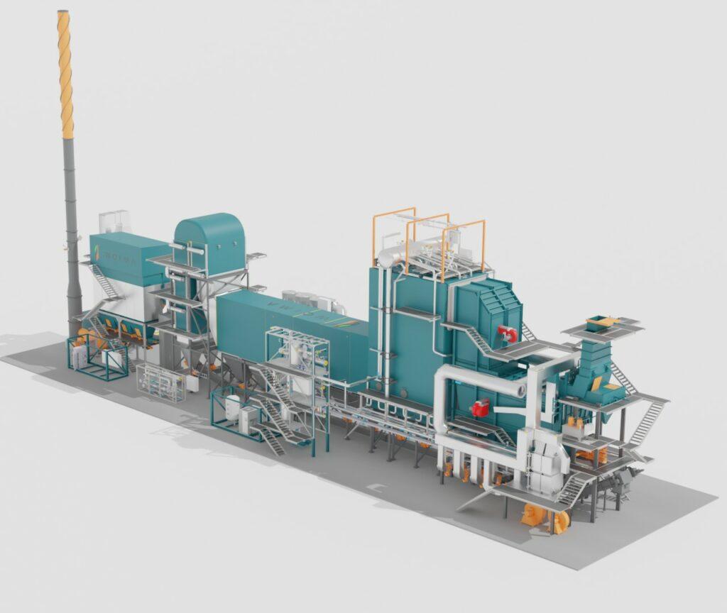 Waste-to-value, close up of WOIMAline, modular power plant, WOIMA Corporation
